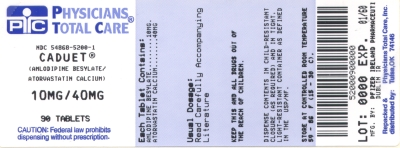 image of 10/40 mg package label