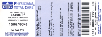 image of 10/80 mg package label
