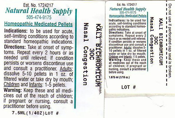 Nasal Congestion Label