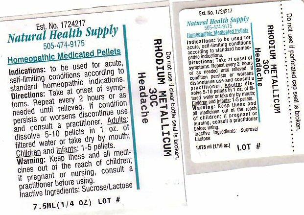 Headache (Rhodium) Pellet [Natural Health Supply]