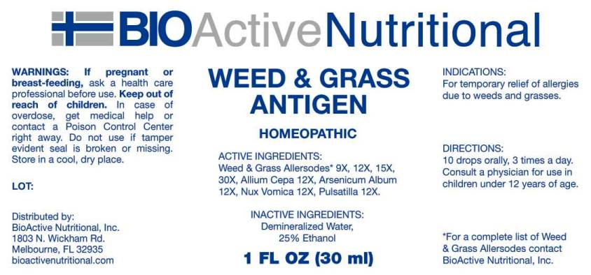 Weed and Grass Antigen