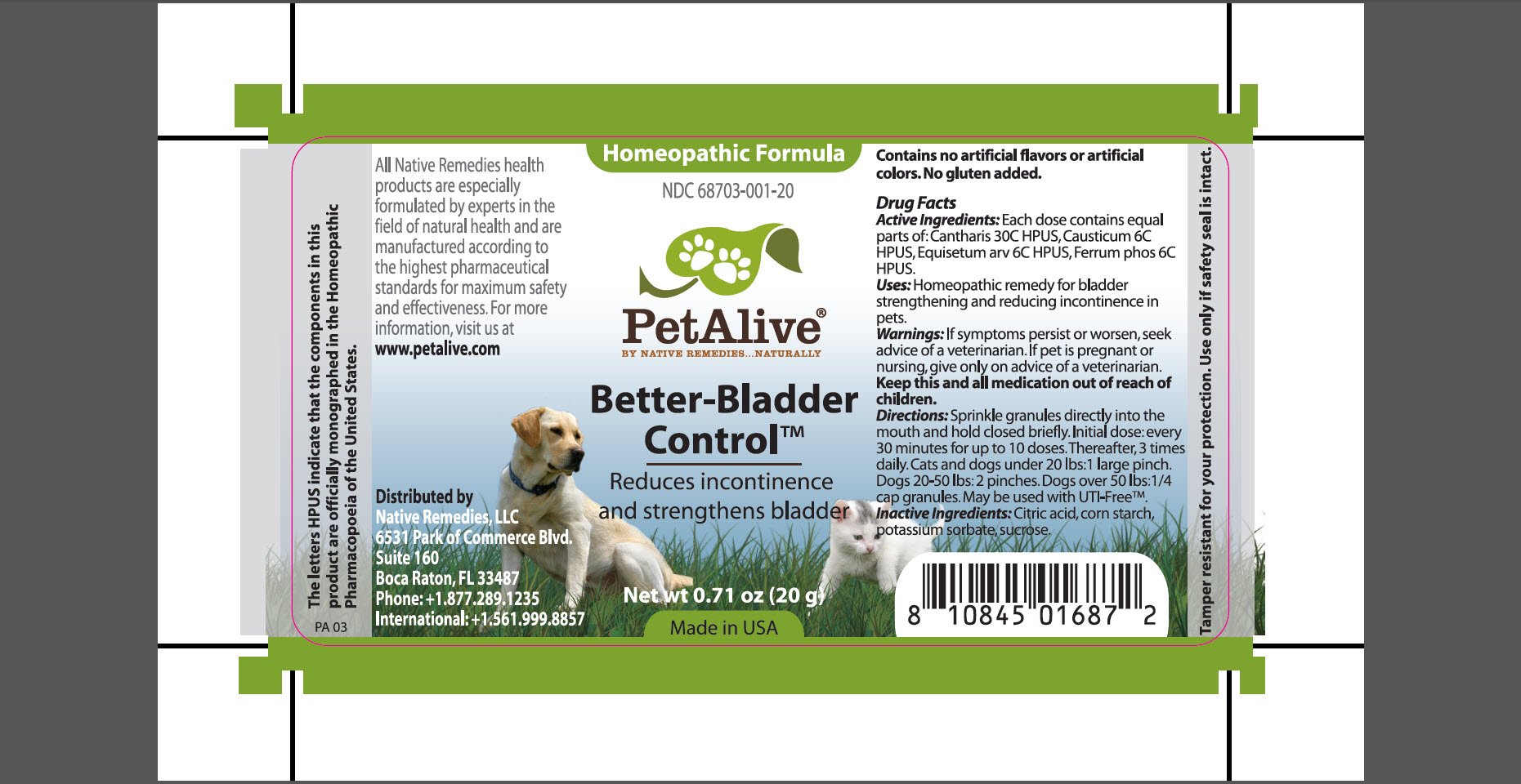 Better-bladder Control (Cantharis, Causticum, Equisetum Arv, Ferrum Phos) Granule [Native Remedies, Llc]