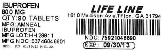 Ibuprofen 800mg #90 Label
