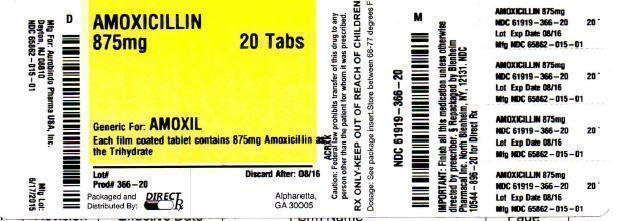 Amoxicillin (Amoxicillin Tablet, Film Coated) Tablet [Direct Rx]