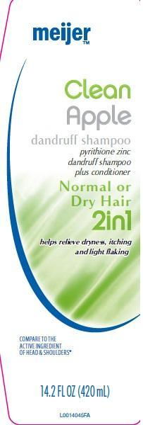 Clean Apple (Pyrithione Zinc) Shampoo [Meijer Distribution]