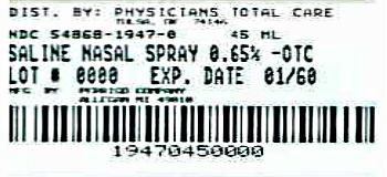 Saline Nasal Spray 0.65%