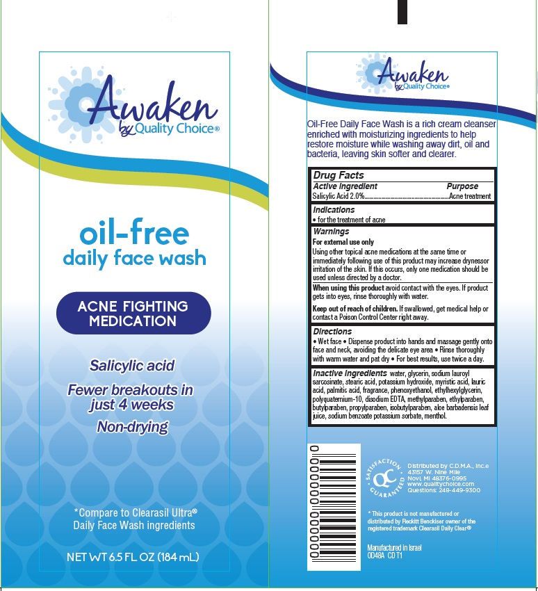 Awaken Oil-free Daily Face Wash (Salicylic Acid) Cream [Chain Drug Marketing Association]