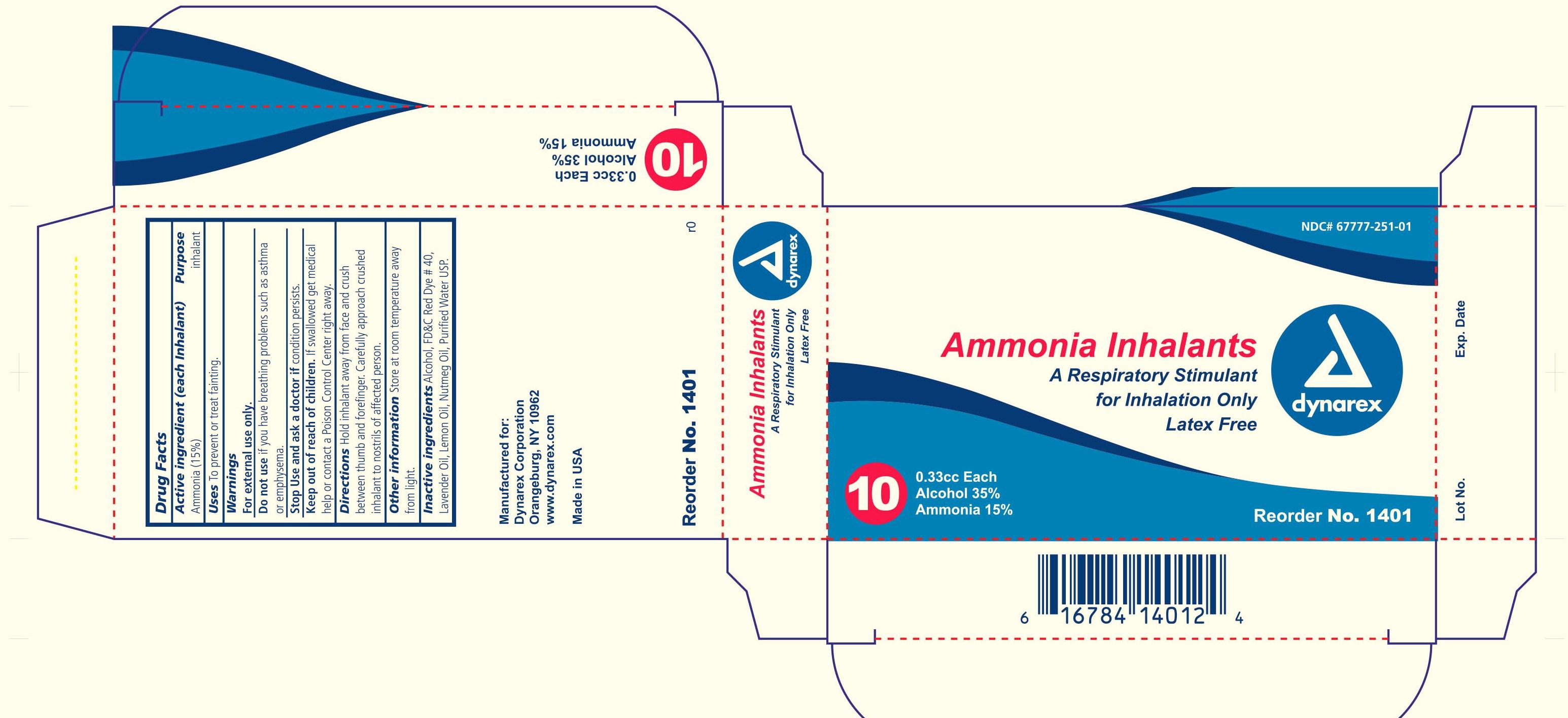 Ammonia Inhalants Inhalant [Dynarex Corporation]