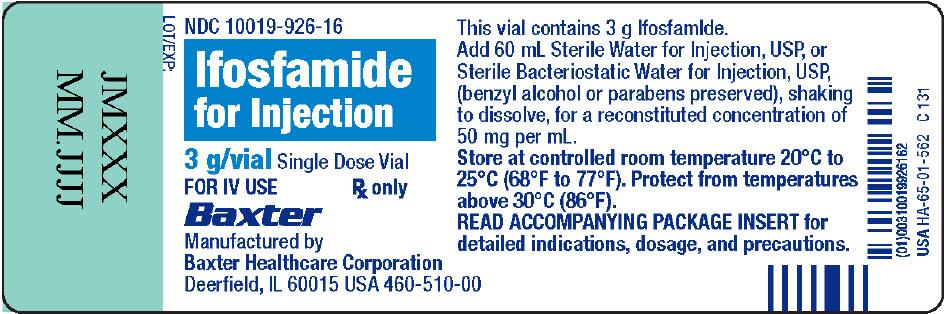 Representative Container Label NDC 10019-926-16 3g