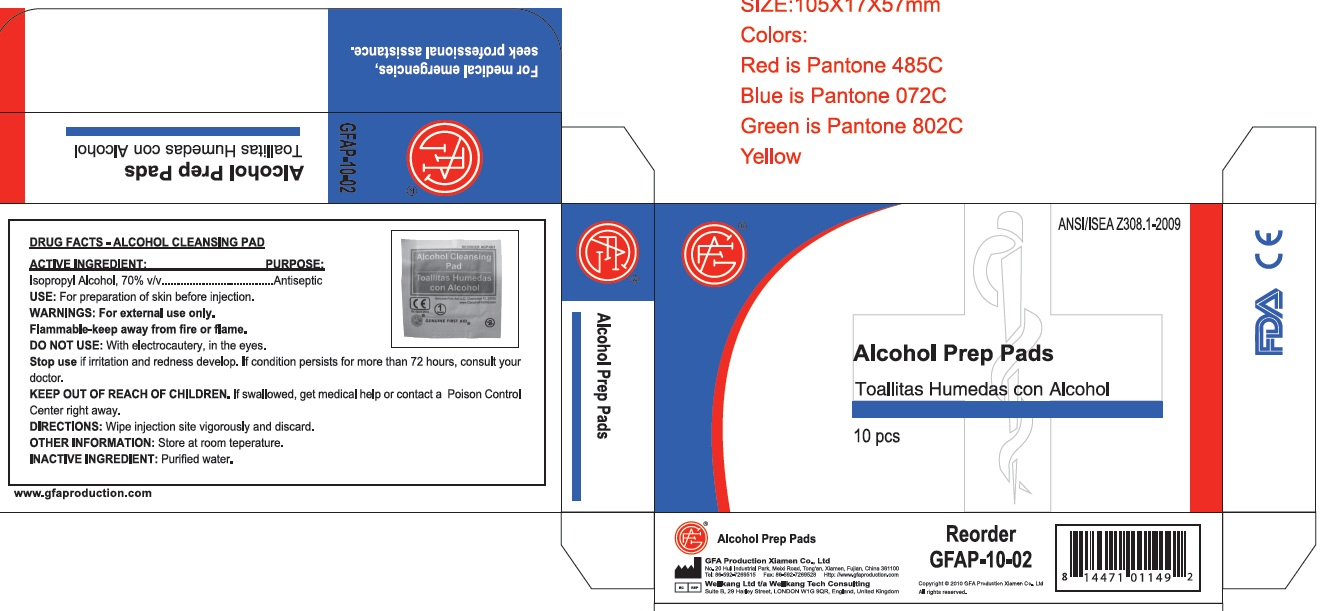 Alcohol Cleansing Pad (Isopropyl Alcohol) Liquid [Genuine First Aid Llc]