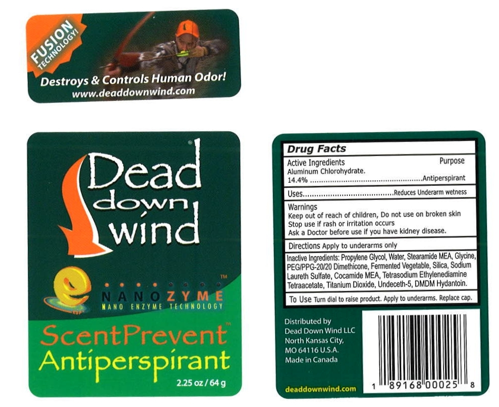 Dead Down Wind ScentPrevent Label