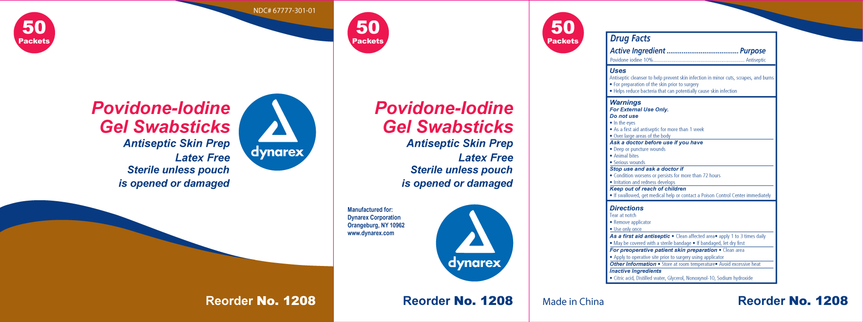 Povidine Iodine Swab [Dynarex Corporation]