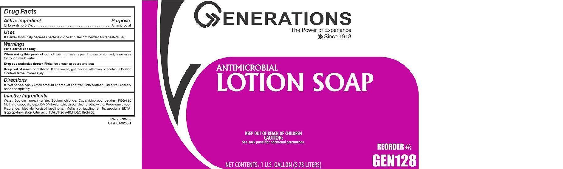 Generations Antimicrobial (Chloroxylenol) Soap [Cole Papers]