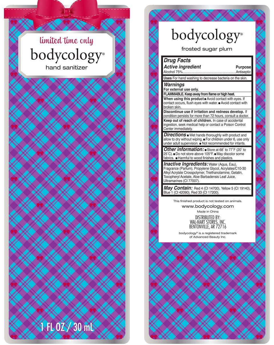 Frosted Sugar Plum Hand Sanitizer Bodycology (Alcohol) Liquid [Wal-mart Stores Inc]