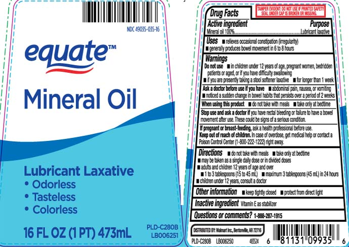 Mineral Oil Oil [Equate (Walmart Stores, Inc.)]