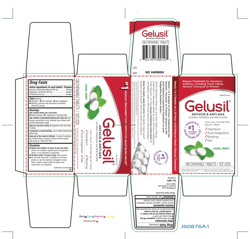 Gelusil (Aluminum Hydroxide Dried Gel And Magnesium Hydroxide And Simethicone) Tablet, Chewable [Wellspring Pharmaceutical Corporation]