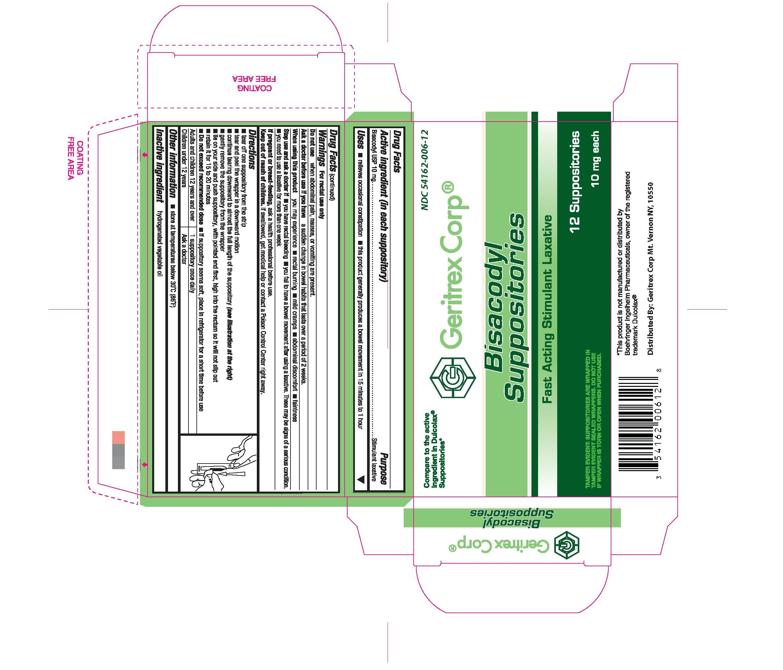 Bisacodyl Suppository [Geritrex Corp.]