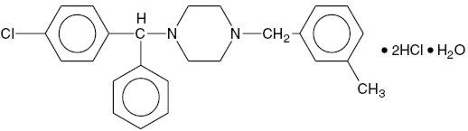 Structure of Meclizine HCl