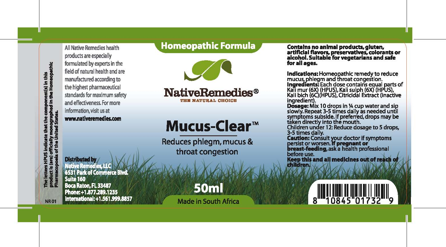 Mucus Clear (Kali Mur , Kali Sulph , Kali Bich , Citricidal Extract ) Tincture [Feelgood Health]