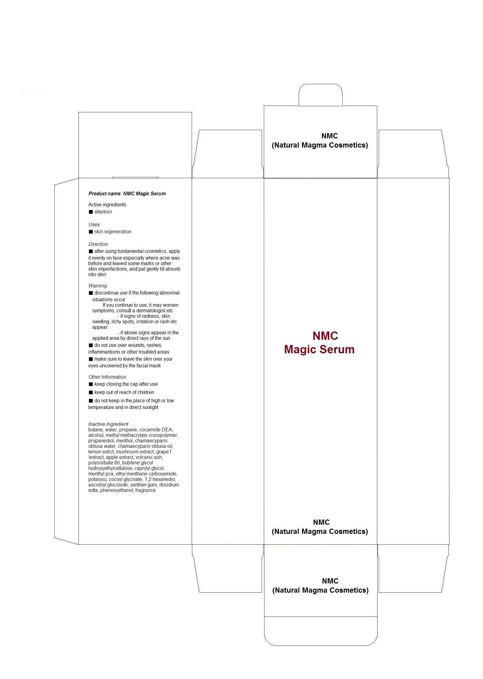Nmc Magic Serum (Allantoin) Liquid [Nmc (Natural Magma Cosmetics)]