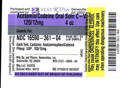 APAP-CODEINE ORAL SOLN 120-12MG LABEL