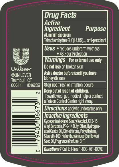 Dove Men Plus Care Unscented Antiperspirant And Deodorant (Aluminum Zirconium Tetrachlorohydrex Gly) Stick [Conopco Inc. D/b/a Unilever]