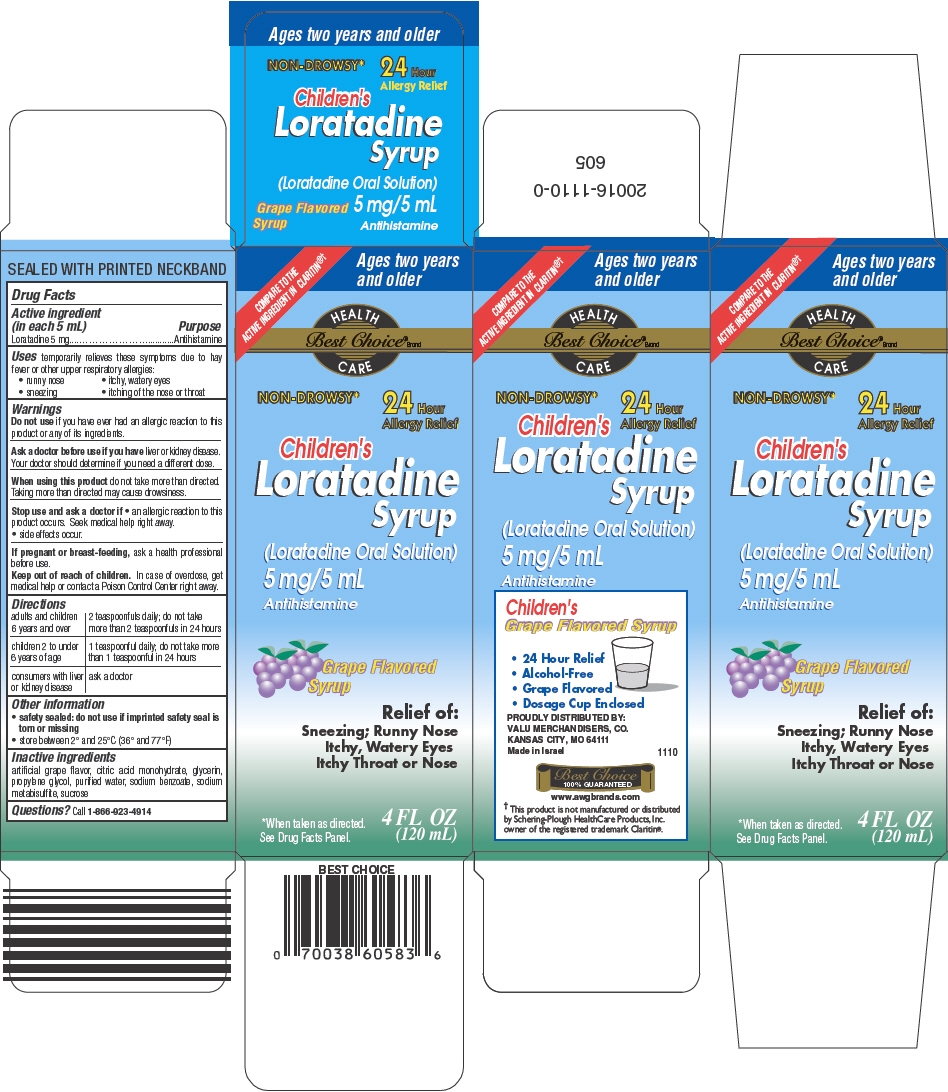 Best Choice Childrens Loratadine (Loratadine) Solution [Valu Merchandisers Company]