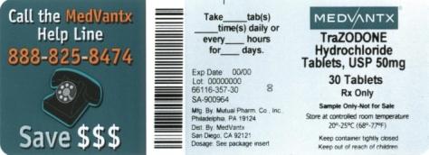 Trazodone Hydrochloride Tablet, Film Coated [Medvantx, Inc.]