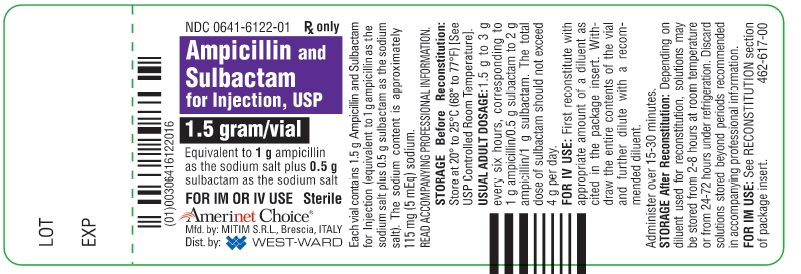 Ampicillin And Sulbactam Injection, Powder, For Solution [West-ward Pharmaceutical Corp.]