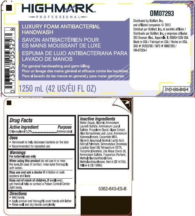 Highmark Professional Luxury Foam Antibacterial Handwash (Chloroxylenol) Liquid [Office Max, Inc.]