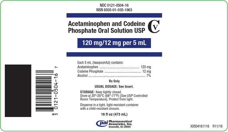 Acetaminophen And Codeine Phosphate Solution [Pharmaceutical Associates, Inc.]