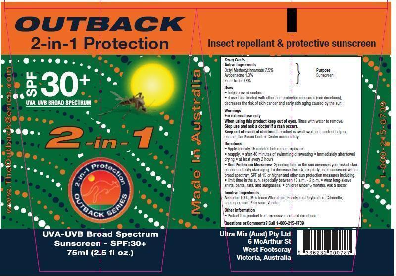 Outback 2 In 1 Protection (Octinoxate,avobenzone And Zinc Oxide) Cream [Ultra Mix (Aust) Pty Ltd ]