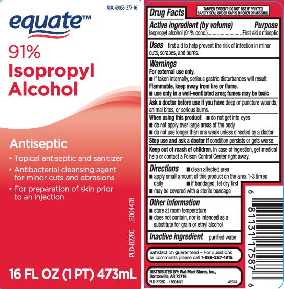 Isopropyl Alcohol 91 Percent (Isopropyl Alcohol) Liquid [Equate (Walmart Stores, Inc.)]