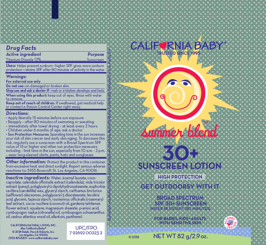 Spf30 Summer Blend Sunscreen (Titanium Dioxide) Lotion/shampoo [Organic & Sustainable Beauty]
