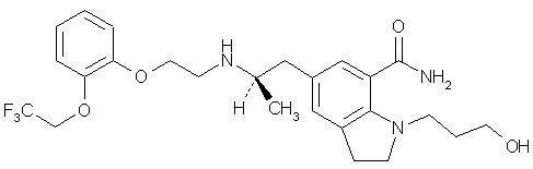 Silodosin structural formula.