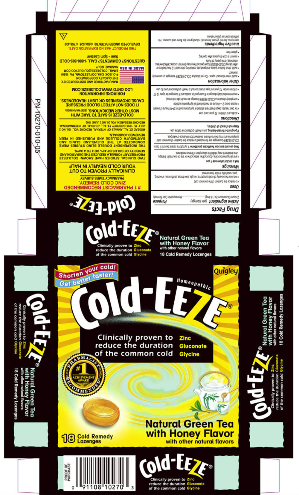 Cold-eeze (Zinc Gluconate) Lozenge [Prophase Labs, Inc.]