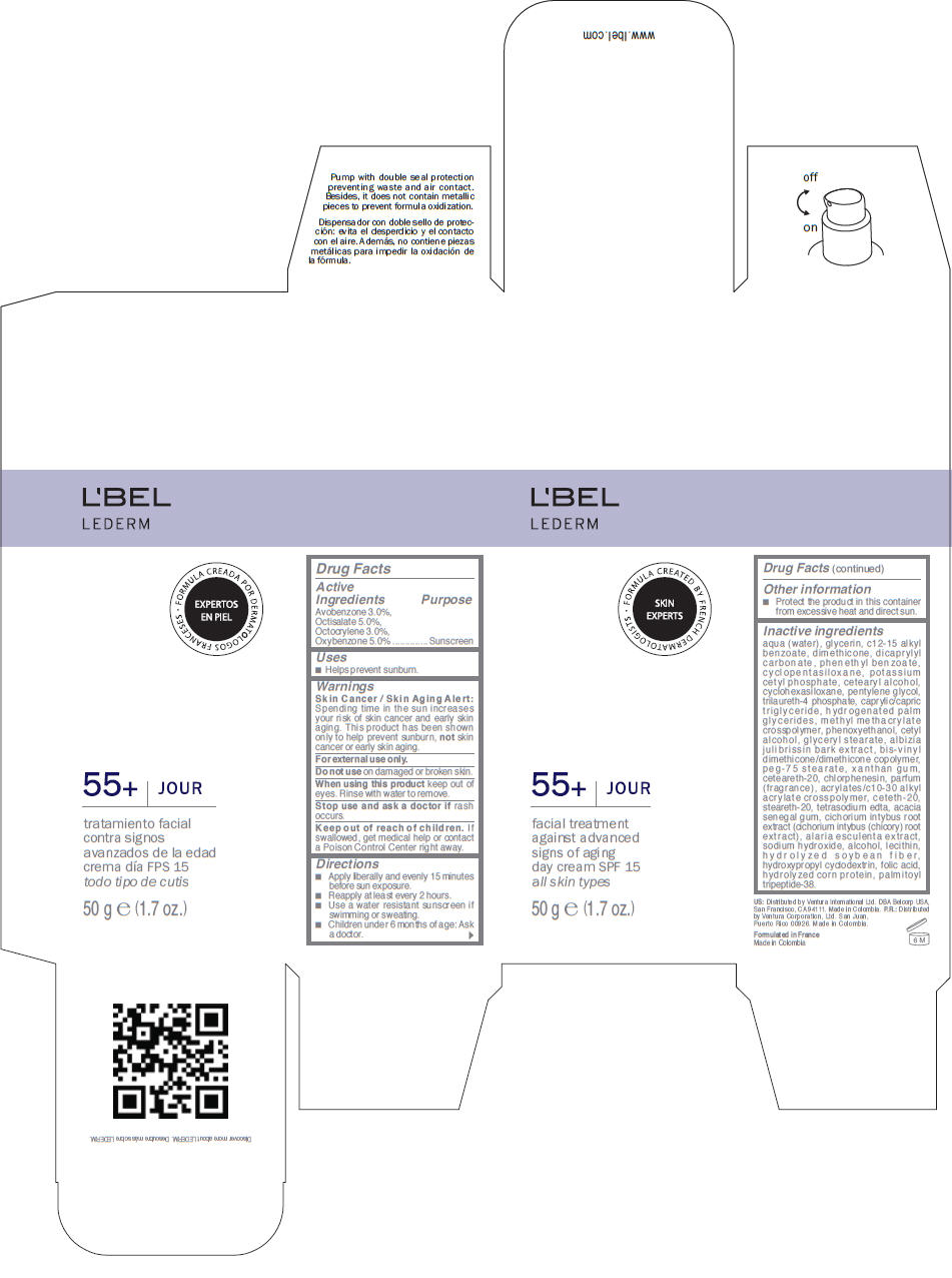 Lbel Lederm 55plus Jour Spf 15 Facial Treatment Against Advanced Signs Of Aging Day – All Skin Types (Avobenzone, Octisalate, Octocrylene, And Oxybenzone) Cream [Ventura Corporation Ltd.]