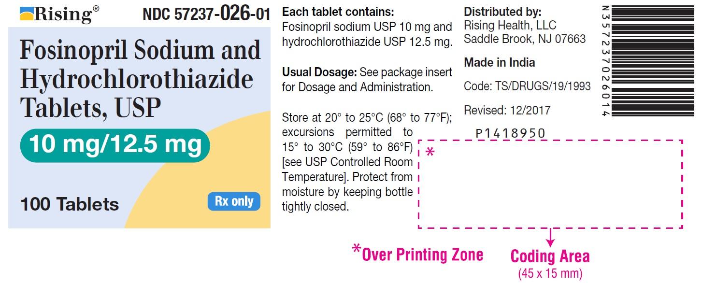 Fosinopril Sodium And Hydrochlorothiazide Tablet [Citron Pharma Llc]