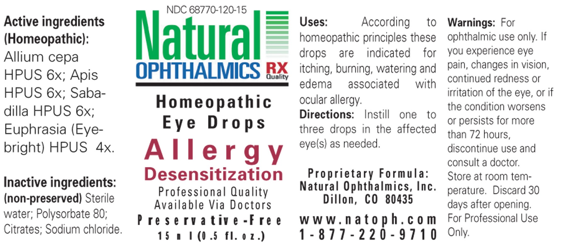 Allergy Desensitization (Onion, Apis Mellifera, Schoenocaulon Officinale Seed, Euphrasia Stricta) Liquid [Natural Ophthalmics, Inc]