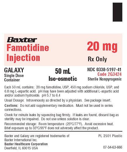 Famotidine Representative Container Label  NDC 0338-5197-41