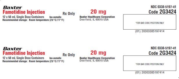 Famotidine Representative Carton Label  NDC 0338-5197-41