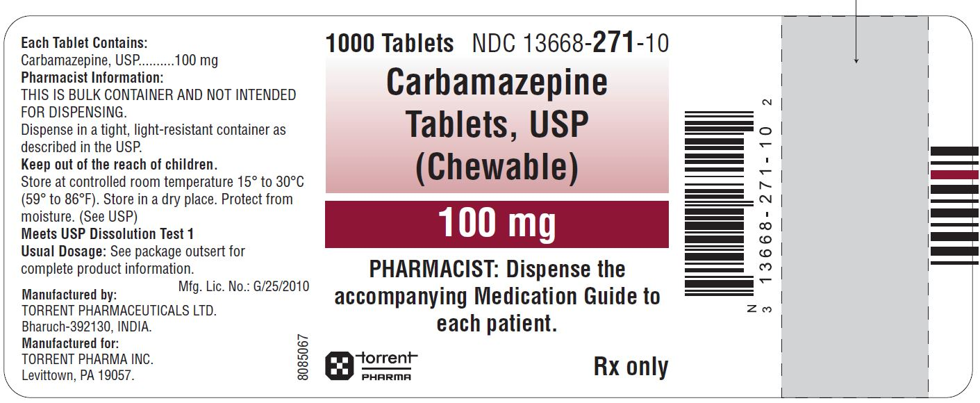 Carbamazepine Tablets (Chewable) 100mg