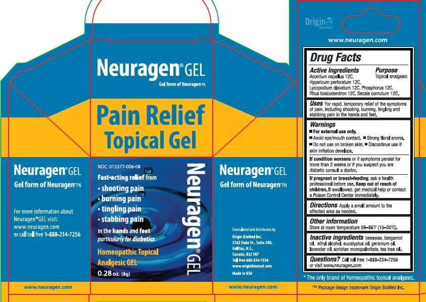 Neuragen Pain Relief (Hypericum, Aconitum Napellus, Lycopodium, Phosphorus, Rhus Toxicodendron) Gel [Origin Biomed Inc]
