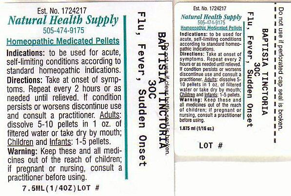 Nhs Flu Fever Sudden Onset (Baptisia Tinctoria Root) Pellet [Natural Health Supply]
