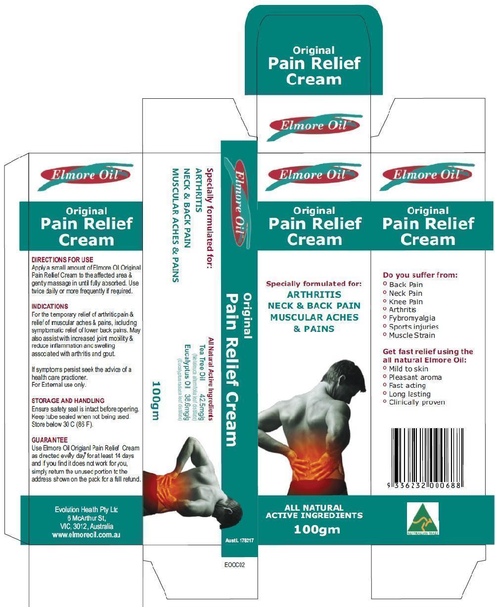 Original Pain Relief Cream (Eucalyptus Oil And Tea Tree Oil) Cream [Ultra Mix (Aust) Pty Ltd ]