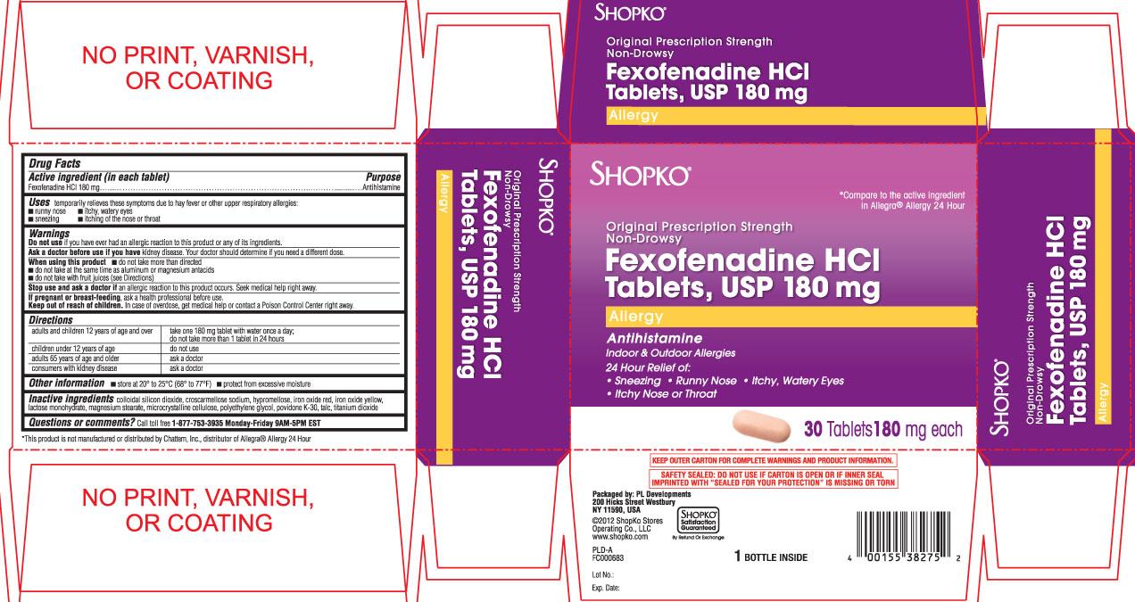 shopko fexofenadine hcl 180 mg