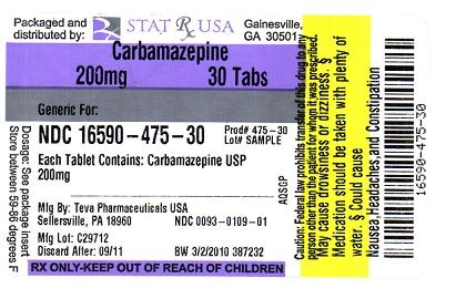 CARBAMAZEPINE 200MG LABEL IMAGE