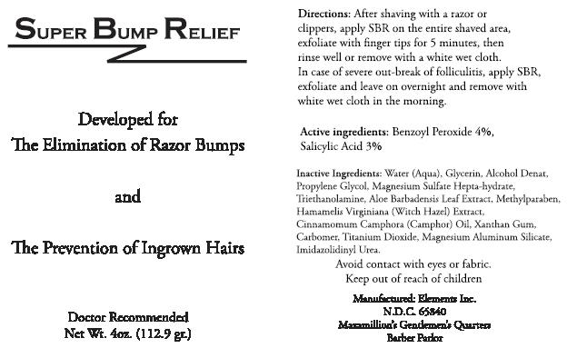 Super Bump Relief (Benzoyl Peroxide And Salicylic Acid) Cream [Elements Personal Care, Inc.]