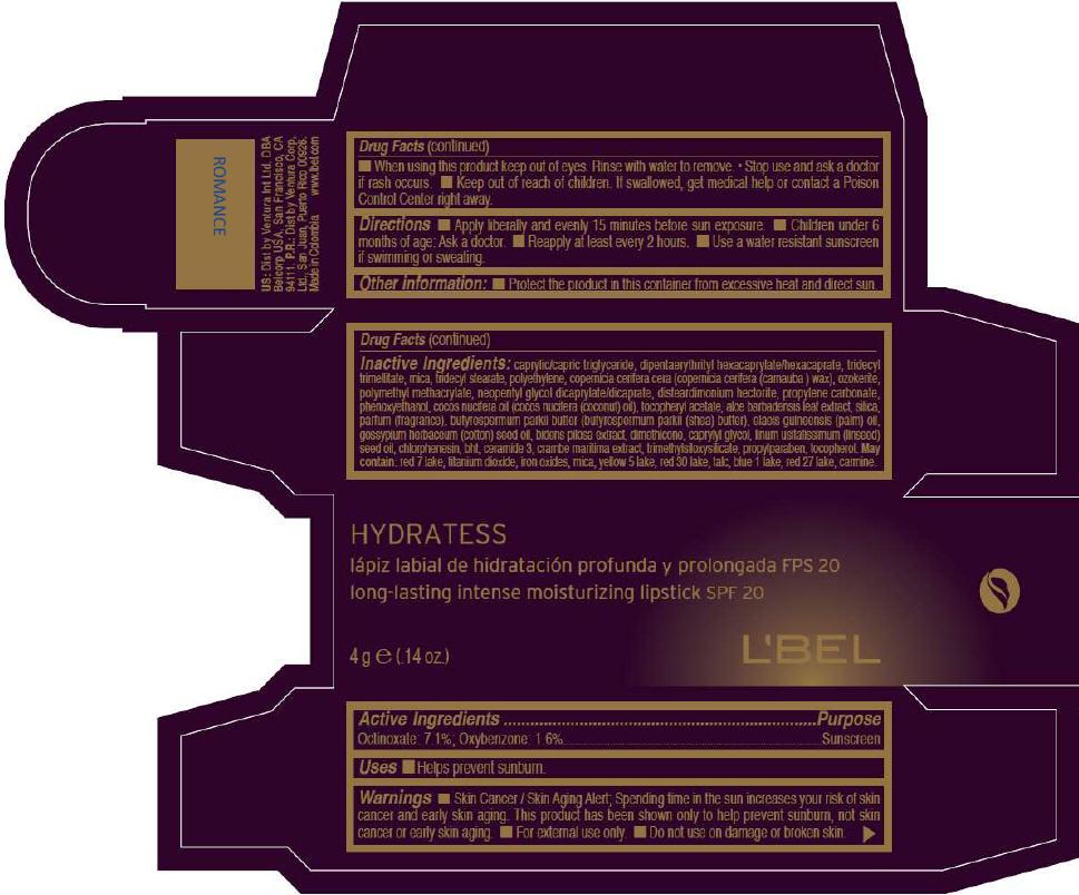 PRINCIPAL DISPLAY PANEL - 4g Tube Box - ROMANCE
