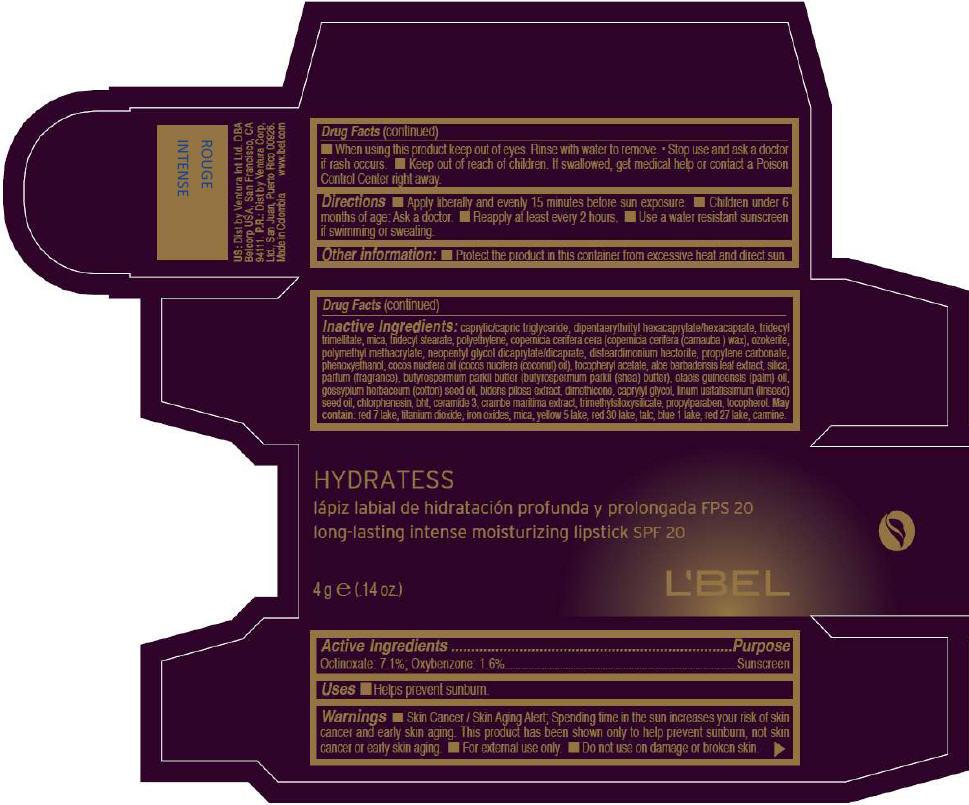 PRINCIPAL DISPLAY PANEL - 4g Tube Box - ROUGE INTENSE
